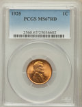 Lincoln Cents, 1925 1C MS67 Red PCGS....