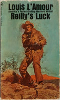 Books:Fiction, Louis L'Amour. INSCRIBED. Reilly's Luck. Bantam, 1971. Mass market edition, later printing. Signed and inscribed b...
