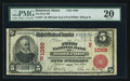 National Bank Notes:Maine, Biddeford, ME - $5 1902 Red Seal Fr. 587 The First NB Ch. #(N)1089. ...