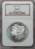 Morgan Dollars, 1897-S $1 MS66 NGC. VAM-4....