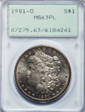 Morgan Dollars: , 1901-O $1 MS63 Prooflike PCGS. PCGS Population (178/440). NGCCensus: (159/554). Numismedia Wsl. Price for problem free NG...