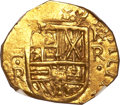 Colombia, Colombia: Felipe IV gold Cob 2 Escudos ND (1628-1665) NR-R,...