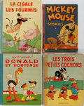Books:Children's Books, [Children's Illustrated]. Walt Disney and Others. Group of FourBooks. Various publishers and languages, 1931-1938. Good or ...(Total: 4 Items)