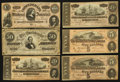 Confederate Notes:Group Lots, 1864 Treasury Note Grouping Six Examples.. ... (Total: 6 notes)