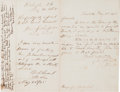 Autographs:Military Figures, Joseph E. Johnston Autograph Letter Signed with Endorsements from Ulysses S. Grant, Edwin M. Stanton, and John Schofield....