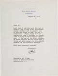 Autographs:U.S. Presidents, Richard Nixon Typed Letter Signed as President...