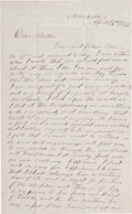Miscellaneous:Ephemera, [John Wilkes Booth]. 1865 Deeply Philosophical Letter WithReference to John Wilkes Booth Written Two Weeks After Lincoln'sAs...