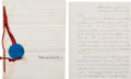 Autographs:Statesmen, Edwin Stanton Document Signed... (Total: 3 Items)