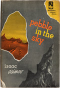 Books:Science Fiction & Fantasy, Isaac Asimov. Pebble in the Sky. Garden City: 1950. Firstedition of Asimov's first science fiction novel....