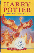 Books:Children's Books, J. K. Rowling. Harry Potter and the Order of the Phoenix.London: [2003]. First trade edition. Signed by the autho...