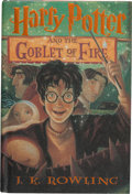 Books:Children's Books, J. K. Rowling. Harry Potter and the Goblet of Fire. NewYork: Scholastic Press, [2000]. First American edition, firs...