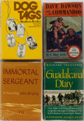 Books:Fiction, [Military Literature]. Guadalcanal Diary, Immortal Sergeant, and Others. Group of Four Books. Various publishers... (Total: 4 Items)