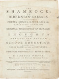 Books:Literature Pre-1900, Samuel Whyte. The Shamrock: or, Hibernian Cresses. Dublin:R. Marchbank, 1772. First edition of this book on Irish...