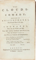Books:Literature Pre-1900, Aristophanes. The Clouds: A Comedy. London: 1759. Smalloctavo. Contemporary calf, binding worn. Very good. Fr...