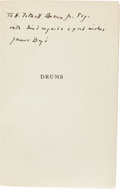 Books:Literature 1900-up, James Boyd. Drums. New York: 1925. First edition. Inscribed,signed, and with an ALS by Boyd. Publisher's cl...