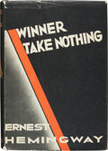 Books:Literature 1900-up, Ernest Hemingway. Winner Take Nothing. New York: 1933. Firstedition. Very good....