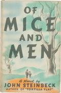 "Books:Literature 1900-up, John Steinbeck. Of Mice and Men. New York: Covici FriedePublishers, [1937]. First edition, first issue (with ""pendu..."