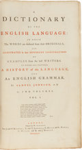 Books:Books about Books, Samuel Johnson. A Dictionary of the English Language: Inwhich the words are deduced from their originals, and ill...(Total: 2 Items)