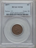 Indian Cents, 1877 1C VF20 PCGS....