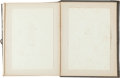 Books:Original Art, [Paper Pricking]. Late Nineteenth-Century Album of Examples of Paper Pricking. [N.p., n.d., ca. 1892]. With eighteen mounted...