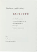 Books:Fine Press & Book Arts, [Arion Press]. Molière. Tartuffe. Arion Press, 2004. Limitedto 300 copies of which this is number 284. Signed by ...