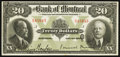 Canadian Currency: , Montreal, PQ- The Bank of Montreal $20 Jan. 2, 1923 Ch. #505-56-06. ...