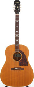 Musical Instruments:Acoustic Guitars, 1966 Epiphone Texan Natural Acoustic Guitar, Serial # 380794....
