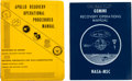 Explorers:Space Exploration, Gemini and Apollo Programs: Two Original Recovery OperationsManuals.... (Total: 2 Items)