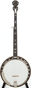 Musical Instruments:Banjos, Mandolins, & Ukes, Early 1970s Gibson RB-250 Brown Stain 5-String Banjo, Serial #730797....