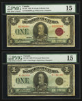 Canadian Currency: , DC-25f $1 1923. DC-25i $1 1923. ... (Total: 2 notes)