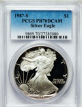 Modern Bullion Coins: , 1987-S $1 Silver Eagle PR70 Deep Cameo PCGS. PCGS Population (437).NGC Census: (425). Mintage: 904,732. Numismedia Wsl. Pr...