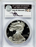 Modern Bullion Coins, 2001-W $1 Silver Eagle PR70 Deep Cameo PCGS. Ex: Signature of JohnM. Mercanti, 12th Chief Engraver of the U.S. Mint. PCGS ...