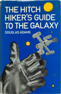 Books:Science Fiction & Fantasy, Douglas Adams. The Hitch Hiker's Guide to the Galaxy. London: [1979]. First edition. Signed by Adams. ...