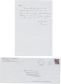"""Books:Literature 1900-up, Cormac McCarthy. Autograph Letter Signed, """"Cormac"""", one page, 6 x 9inches, El Paso, 1997, to his good friend, Bill Kidwell.... (Total:2 Items)"""