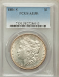 Morgan Dollars, 1884-S $1 AU58 PCGS....