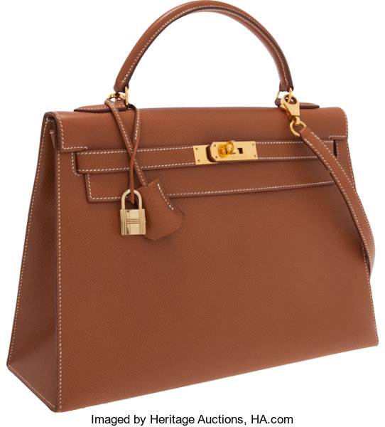 7809d1eb6d2 Hermes 32cm Gold Epsom Leather Sellier Kelly Bag with Shooting