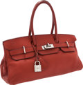 Luxury Accessories:Bags, Hermes 42cm Brick Clemence Leather JPG Shoulder Birkin Bag withPalladium Hardware. ...
