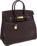 Luxury Accessories:Bags, Hermes 32cm Cocoan Chevre Leather HAC Birkin Bag with Gold Hardware. ...