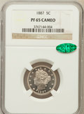 Proof Liberty Nickels: , 1887 5C PR65 Cameo NGC. CAC. NGC Census: (7/10). PCGS Population(7/7). ...
