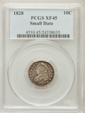 Bust Dimes: , 1828 10C Small Date XF45 PCGS. PCGS Population (4/47). NGC Census:(4/28). Mintage: 125,000. ...