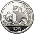 China:People's Republic of China, China: People's Republic of China Proof silver Panda 10 Yuan 1985,...