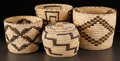 American Indian Art:Baskets, FOUR PAPAGO COILED BASKETS... (Total: 4 )