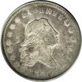 Early Half Dollars: , 1795 50C 2 Leaves VF25 PCGS. O-125, High R.4. This deep dove-grayearly silver type coin lacks identifying marks. Although ...