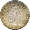 Early Half Dollars: , 1805 50C AU53 NGC. O-112, R.2. Star 9 is recut, and the 1 in thedate is quite close to the curl. The 80 is large, and the ...