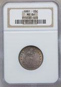Seated Quarters, 1881 25C MS66 NGC....