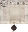 Miscellaneous:Ephemera, [Charles I]. Letters Patent to William Trumbull with Full Seal....