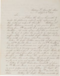 Miscellaneous:Ephemera, [Battle of Corinth]. Report of Captain George Augustus Williams,Chief of Artillery, 1st U.S. Army, Regarding the Batteries an...