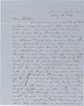 """Miscellaneous:Ephemera, [Mexican War]. George Henry Thomas, the """"Rock of Chickamauga"""" Autograph Letter Signed """"Geo H Thomas.""""..."""