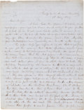 "Miscellaneous:Ephemera, [Mexican War]. Joseph King Fenno Mansfield Autograph Letter Signed""Jos. K. F. Mansfield.""..."