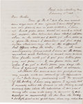 """Miscellaneous:Ephemera, [Mexican War]. George Henry Thomas Autograph Letter Signed """"GeoH Thomas.""""..."""